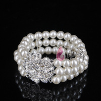 Freeshipping multi-layer pearl  with  rhinestone Bridal bracelet accessories, bracelet marriage wedding jewelry