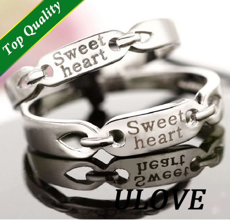 Sold A Pair Vintage Jewelry Gothic Silver Couple Rings For