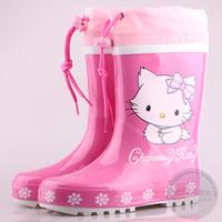 Fashion child rain boots female child rainboots rubber water shoes pink series rain shoes overstrung children shoes