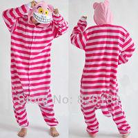 Promotions ! Christmas Unisex Animal Pajamas Jumpsuits Cheshire Cat Anime Cosplay Costume,Free Shipping