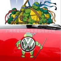 2013 hot personalized car stickers car becomes 3 d teenage mutant ninja turtles