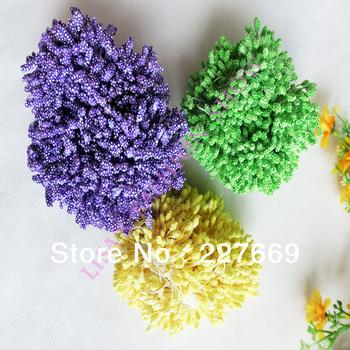 Free shipping!4000PCS/lot wholesale multicolor  foam flower stamens christmas decoration stamen and DIY pistil stamen