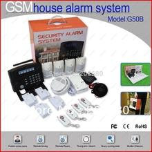 GSM mobile control GB08 Home house Burglar Security Alarm System support English languege Free shipping JJJ