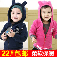 Autumn children's clothing 2013 autumn female child baby long-sleeve cardigan male child fleece outerwear sweatshirt top 0285