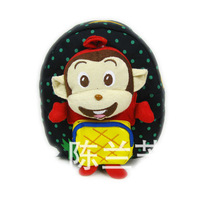 free shipping,Pineapple monkey child school bag baby school bag male cartoon style  canvas bag