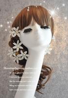 Fresh cameleers Wedding Fashion Imitation pearl the bride hair Clip hair accessory single flower hair accessory Free Shipping