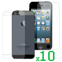 10pcs/lot Clear Full Body Front and Back Screen Protector for iphone 5s