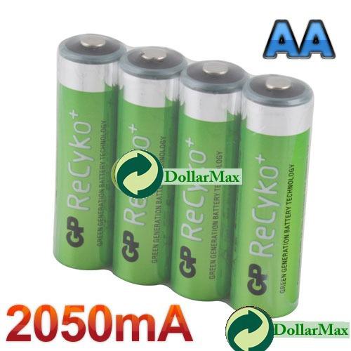 Аккумулятор : 4 power GP Recyko 2050mAh 1.2V ni/mh NIMH AA #1 аккумулятор nimh aa lr6 700mah 1 2v 600mah 1pcs lot 30548