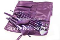 Wholesale New 21 pcs Purple Cosmetic Brush Kits Make Up Makeup Brushes Tools Set Soft Facial Brush with Leather Bag