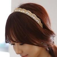 The bride Tiaras Ideales Para Tocados De Novias accessories imitation crystal rhinestone bling headband hair bands Bridal Crown