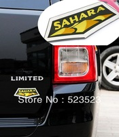 Free Ship SAHARA Badge Decal EMBLEM  for JEEP GRAND CHEROKEE COMPASS PATRIOT WRANGLER Alloy Wholesales 18cm