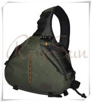 Professional Caden K1 Shoulder Camera Bag for Video Portable diagonal Triangle Carry Case for Canon Nikon Sony- Army Green Color