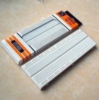 5PCS/LOT Breadboard 830 Point Solderless PCB Bread Board white MB-102 MB102 Test Develop DIY 16.5*5.5cm
