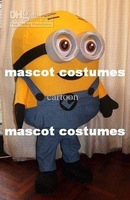 New Arrival Two eyes Minion despicable me Minions Mascot Costume Halloween Costume Fancy Dress Free Shipping
