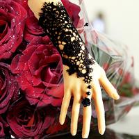 Promotion gothic punk Black lace bracelet retro Vampire cosplay charm baracelet woman cuff B120