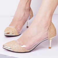 new ladies pumps. 6cm  high heels shoes.black,gold,silver party shoes  platform pumps  princess wedding shoes hh1056