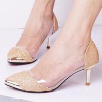 new ladies pumps. 6cm  high heels shoes.black,gold,silver party shoes  platform pumps  princess wedding shoes hh1056