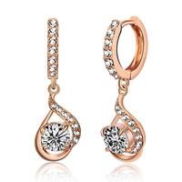 Accessories elegant kalyptolith shining crystal earrings female elegant fashion ear buckle