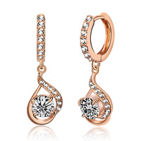 Accessories elegant kalyptolith shining crystal earrings female elegant fashion ear buckle