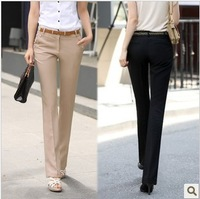 2013 autumn and winter women professional suit pants clothes trousers straight plus size bell bottom female trousers