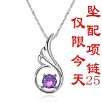 For nec  klace female 925 pure silver chain girlfriend gift gifts fashion accessories
