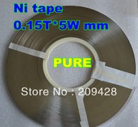 free shipping 1 reel roll package 0.74Kg 5WX0.15T mm PURE Ni plate Nickel strip tape 99.7% for battery welding DIY pack assembly