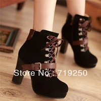 Free shipping 2013 vintage elegant female boots colorant match short plush martin boots women's shoes size 34-40