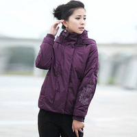 Wadded jacket outerwear female winter 2013 middle-age women stand collar elegant plus size design short cotton-padded jacket