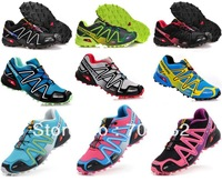 FREE Shipping 2013 New Arrival Salomon Shoes Athletic Men's Sports Shoes Running Shoe 19 Color Size:40-46