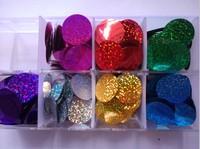 Free shipping diy accessories laser circle paillette diy clothes accessories sequin paillette 20MM