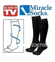 Unisex Miracle socks 6pcs=3pairs/lot Soothe Tired Achy Legs & Feet Anti-Fatigue Compression Socks IN OPP Bag