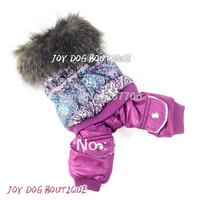 Purple Pet Costume Dog Clothes Pet Dog Track Suit, Pet Jumper Fast Shipping!!!