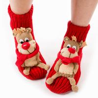 free shipping Christmas socks adult floor socks thickening women's slip-resistant thermal cartoon gift yarn socks