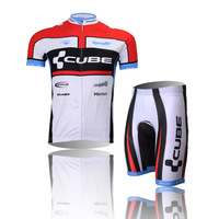 CUBE white jersey short-sleeved suit cycling wear cycling clothing breathable perspiration