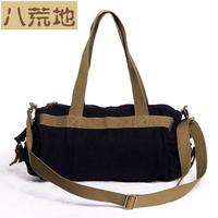 color block canvas messenger bag bucket bag casual backpack 0114