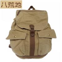 color block denim backpack bag male bucket bag rivet punk backpack bag canvas male bag