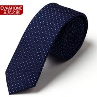 2013 New Arrival Brands Ties For Men  nano-tie male casual ol elegant 5cm navy blue circle dot l5042  Neckties