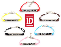 12pcs/lot Mix new arrival fashion I love 1D one direction antique charm designer bracelet wristbands jewelry for women girls