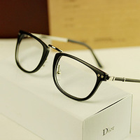 Free shipping 2013 new Vintage metal big black plain mirror rubric for myopia glasses frame