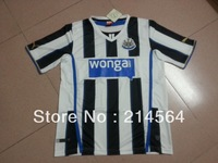 free shipping!!! 13/14 Newcastle home White and Black best thai quality soccer jersey, Newcastle soccer jerseys shirts