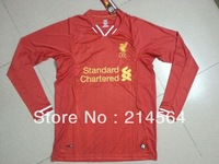 Liverpool 2013/2014 red long-sleeved jersey jersey Thailand quality perfect embroidery Size: S / M / L / XL