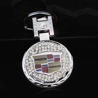 Car male quality keychain key chain key ring keychain cadillac car double faced with diamond