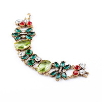 Fashion fashion accessories vintage green crystal bracelet accessories