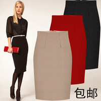 Plus new winter thick woolen skirt