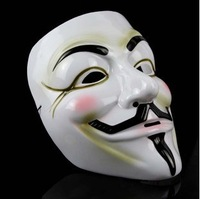 "Factory Direct Sale ShengQuan(Environmental PVC Material) Movie Theme  Mask ""V For Vendetta"""