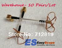 Warehouse 10 pairs/Lot 5.8Ghz 3 & 4 Blade Clover Leaf Antenna & Skew Planar W/SMA plug, FPV antenna