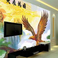 Mural tv background wallpaper mural wallpaper modern chinese style