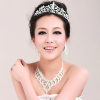 accessories rhinestone hair accessory married necklace three pieces set wedding accessories
