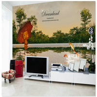 Fashion large mural sofa customize fashion decorative painting oil painting ktv flower mural