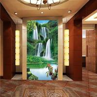Mural entranceway 3d three-dimensional wallpaper background wallpaper